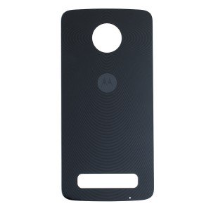 Back Cover for Motorola Moto Z Play - Black (XT1635) (Authorized OEM) - Black