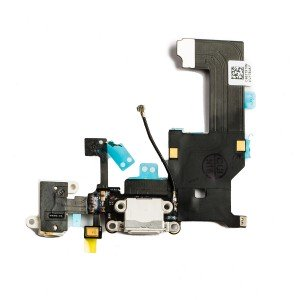 Charging Port Flex Cable for iPhone 5 - White