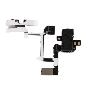 Headphone Jack Flex Cable for iPhone 4 GSM - Black