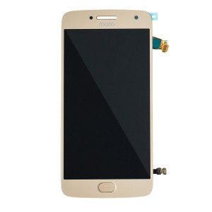 LCD & Digitizer Assembly (w/ Fingerprint Scanner) for Motorola Moto G5 Plus (XT1687) (Authorized OEM) - Gold