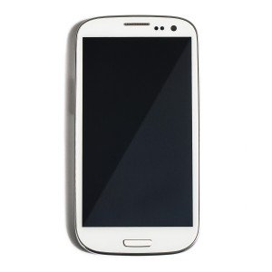 LCD & Digitizer Frame Assembly for Samsung Galaxy S3 (L710) (MDSelect - Generic) - White