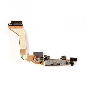 Charging Port Flex Cable for iPhone 4 GSM - Black