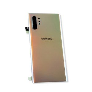 Back Glass with Adhesive for Galaxy Note 10+ (OEM - Service Pack) - Aura Glow