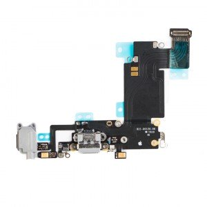 "Charging Port & Headphone Jack Flex Cable for iPhone 6S Plus (5.5"") - Dark Grey"