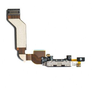 Charging Port Flex Cable for iPhone 4S - Black