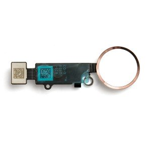 "Home Button Flex Cable (w/ Fingerprint Scanner) for iPhone 8 (4.7"") - Gold (Cosmetic replacement - button will not function after repair)"
