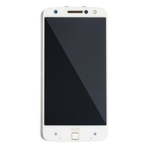 OLED Frame Assembly with Fingerprint Scanner for Moto Z Force Droid (XT1650-02) (Authorized OEM) - White
