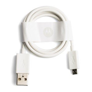 Micro USB Charging Cord for Motorola Moto G5 / Moto E4 / Moto E4 Plus (XT1670 / XT1768 / XT1774) (Authorized OEM) - White