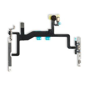 Power and Volume Flex Cable with Mounting Brackets for iPhone 6S