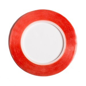 Premium Double Sided Red Tape (2mm)