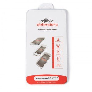 Tempered Glass Shield (0.33mm) for Samsung Galaxy Note 2 (MD Packaging)