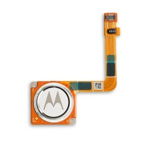 Fingerprint Scanner with Adhesive for Moto G7 (Authorized OEM) - White